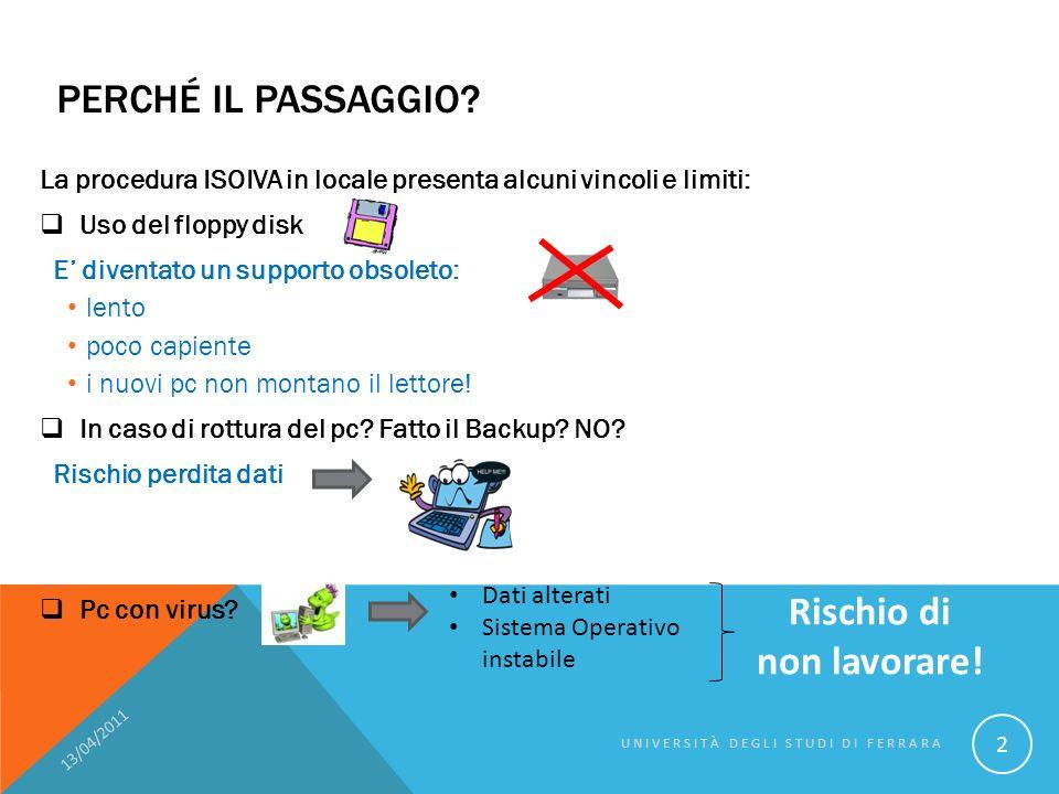 DETTAGLIO TECNICO… 13/04/2011 UNIVERSITÀ DEGLI STUDI DI FERRARA 43