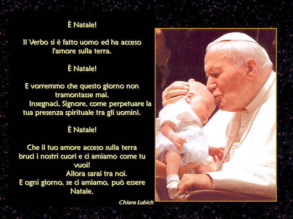La nostra Madre. La Legge del Cielo è tornare bambini. Accoglici fra le tue braccia, Maria, perché questo Natale abbia senso per noi. Chiara Lubich Na