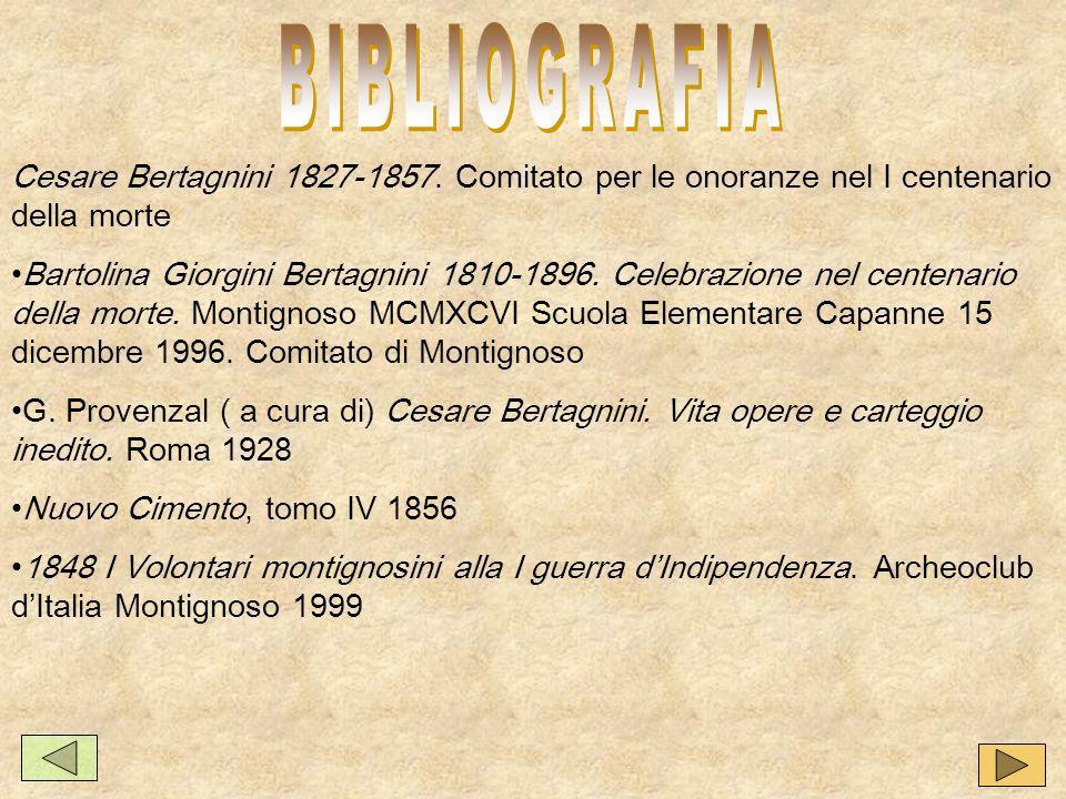 Cesare Bertagnini 1827-1857.