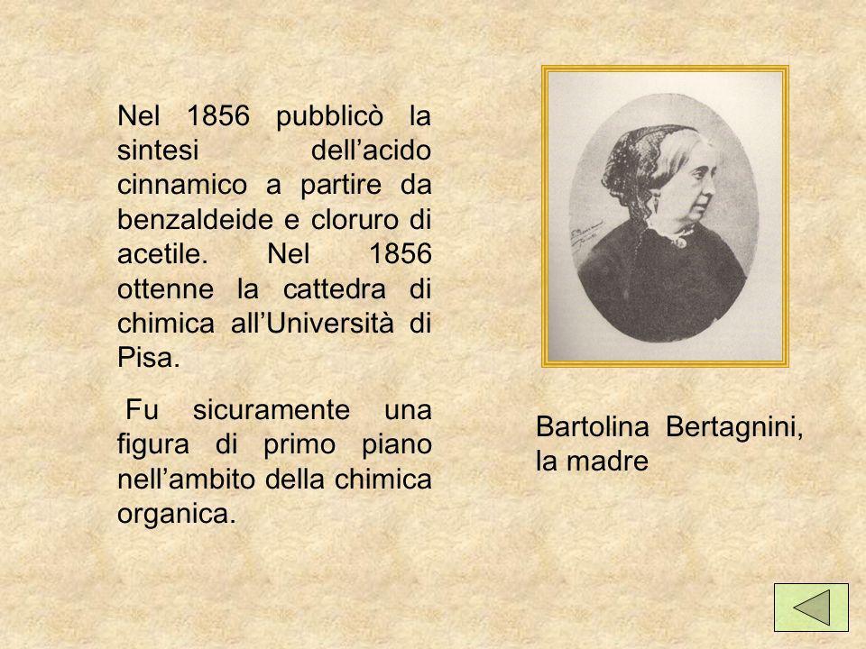Nel 1856 pubblicò la sintesi dellacido cinnamico a partire da benzaldeide e cloruro di acetile.