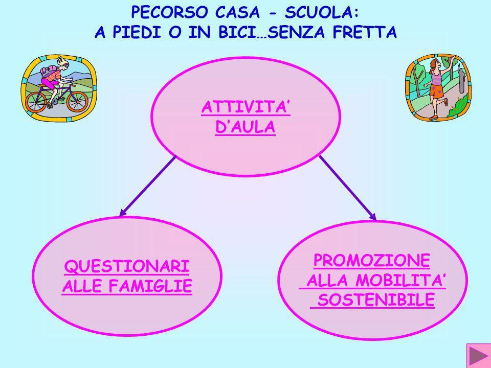 … LANNO SCOLASTICO 2008 –2009 AL FINE DI ATTUARE IL PIEDIBUS PER IL PERCORSO CASA - SCUOLA FINE