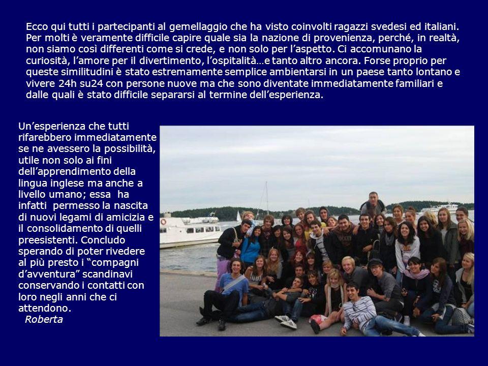 Ecco qui tutti i partecipanti al gemellaggio che ha visto coinvolti ragazzi svedesi ed italiani. Per molti è veramente difficile capire quale sia la n