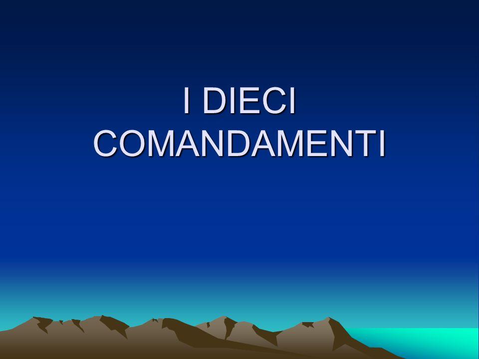 Io Sono il SIGNORE, il tuo DIO, che ti ho fatto uscire dal paese dEgitto, dalla casa di schiavitù.