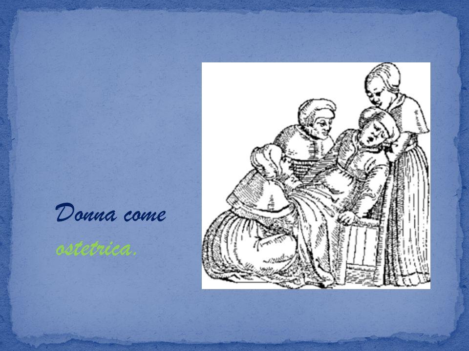 Donna come ostetrica.