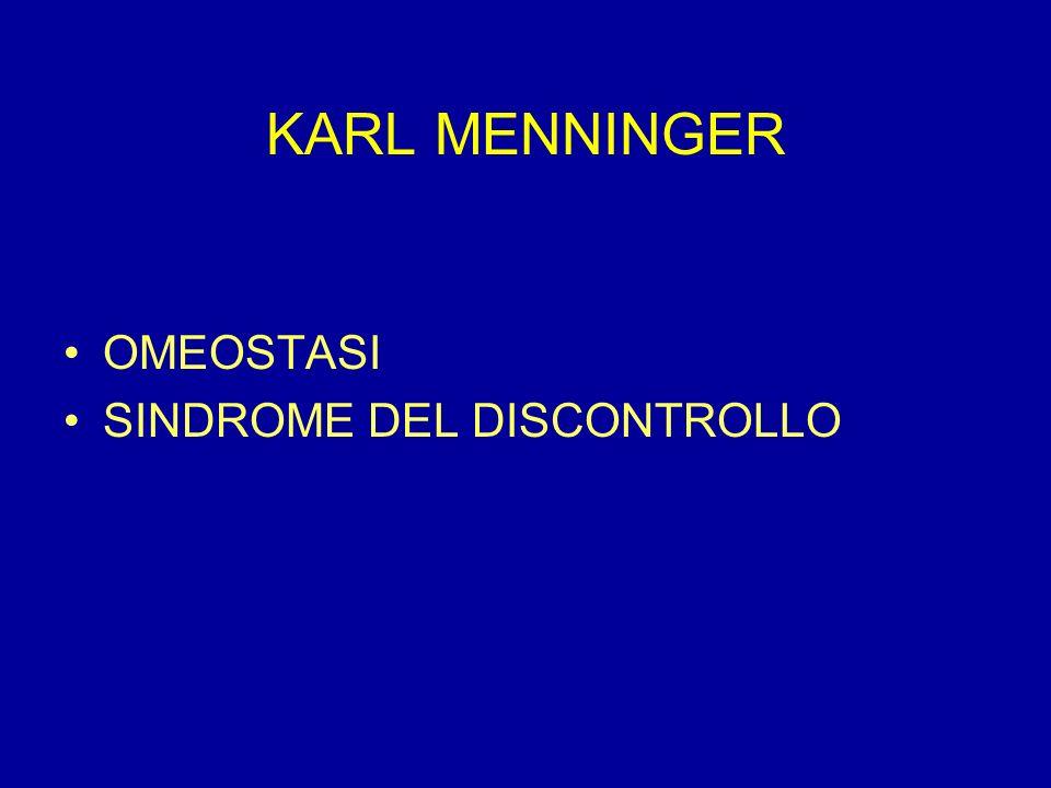 KARL MENNINGER OMEOSTASI SINDROME DEL DISCONTROLLO