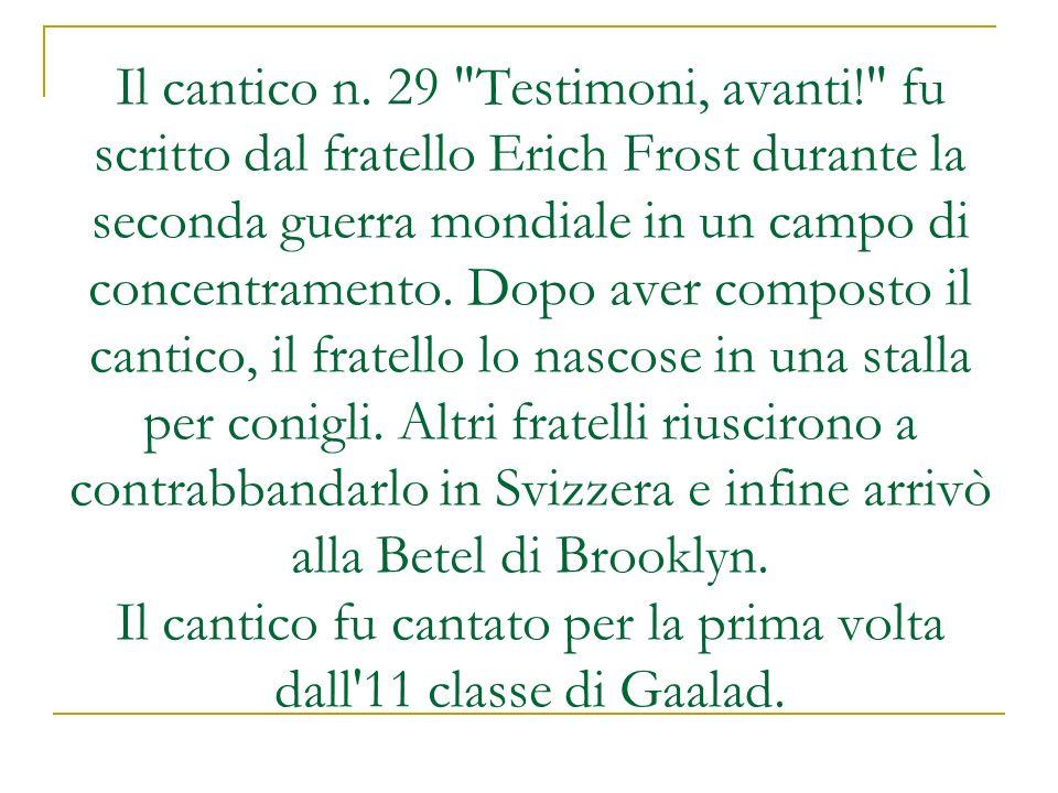 Il cantico n. 29