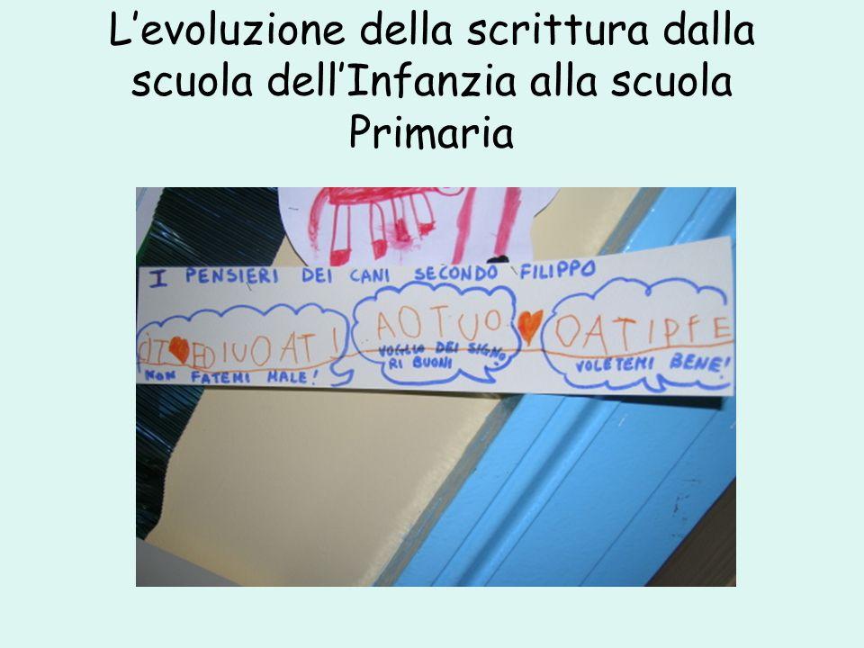 Levoluzione della scrittura dalla scuola dellInfanzia alla scuola Primaria