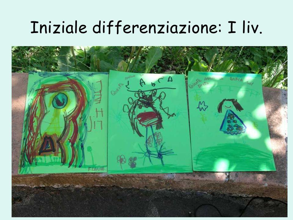 Iniziale differenziazione: I liv.