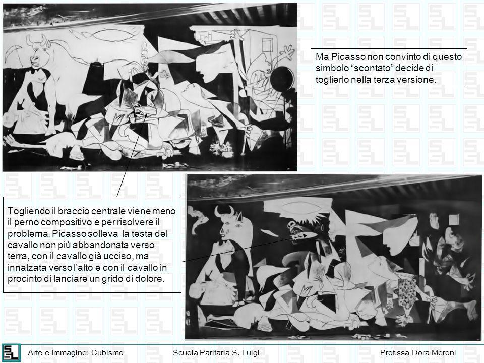 Arte e Immagine: CubismoScuola Paritaria S. LuigiProf.ssa Dora Meroni Togliendo il braccio centrale viene meno il perno compositivo e per risolvere il