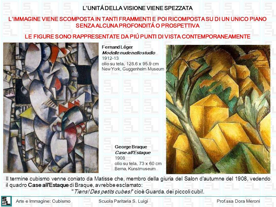 Arte e Immagine: CubismoScuola Paritaria S. LuigiProf.ssa Dora Meroni LUNITÁ DELLA VISIONE VIENE SPEZZATA LIMMAGINE VIENE SCOMPOSTA IN TANTI FRAMMENTI