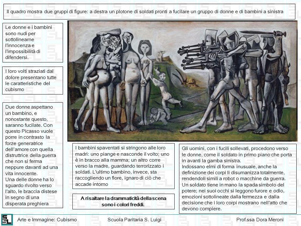 Arte e Immagine: CubismoScuola Paritaria S. LuigiProf.ssa Dora Meroni Il quadro mostra due gruppi di figure: a destra un plotone di soldati pronti a f