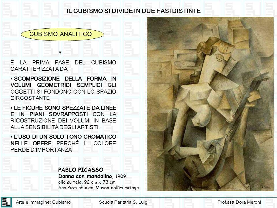 Arte e Immagine: CubismoScuola Paritaria S. LuigiProf.ssa Dora Meroni IL CUBISMO SI DIVIDE IN DUE FASI DISTINTE CUBISMO ANALITICO È LA PRIMA FASE DEL