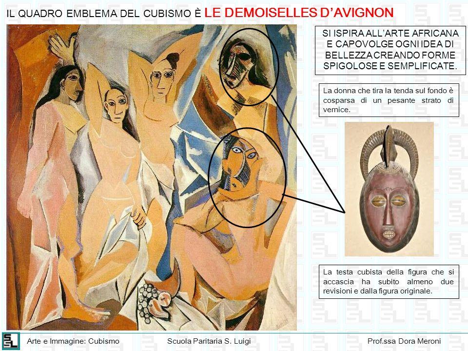 Arte e Immagine: CubismoScuola Paritaria S. LuigiProf.ssa Dora Meroni IL QUADRO EMBLEMA DEL CUBISMO È LE DEMOISELLES DAVIGNON SI ISPIRA ALLARTE AFRICA