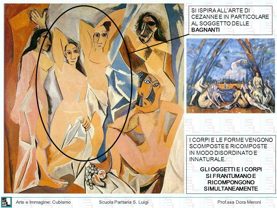 Arte e Immagine: CubismoScuola Paritaria S. LuigiProf.ssa Dora Meroni I CORPI E LE FORME VENGONO SCOMPOSTE E RICOMPOSTE IN MODO DISORDINATO E INNATURA