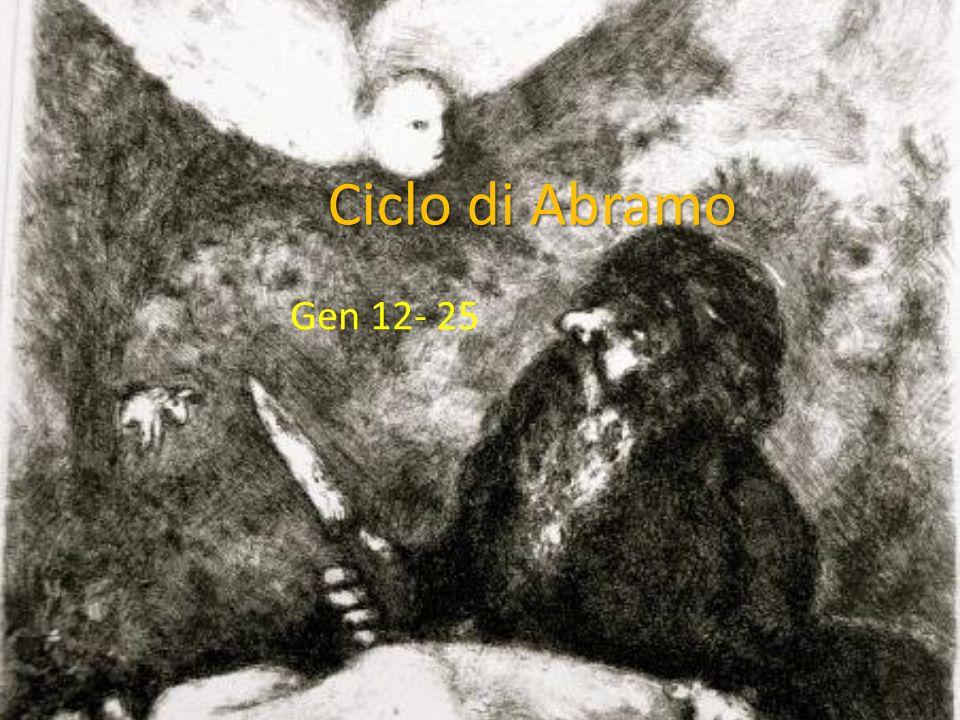 Ciclo di Abramo Gen 12- 25