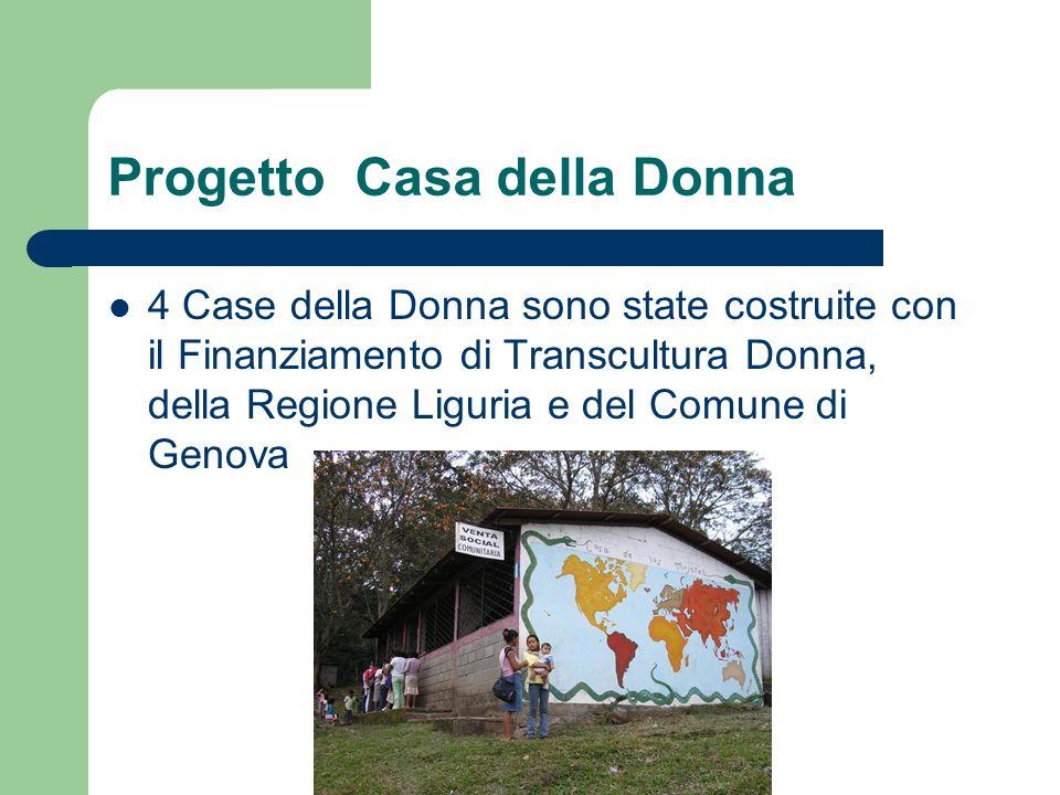 Progetto Casa della Donna 4 Case della Donna sono state costruite con il Finanziamento di Transcultura Donna, della Regione Liguria e del Comune di Ge