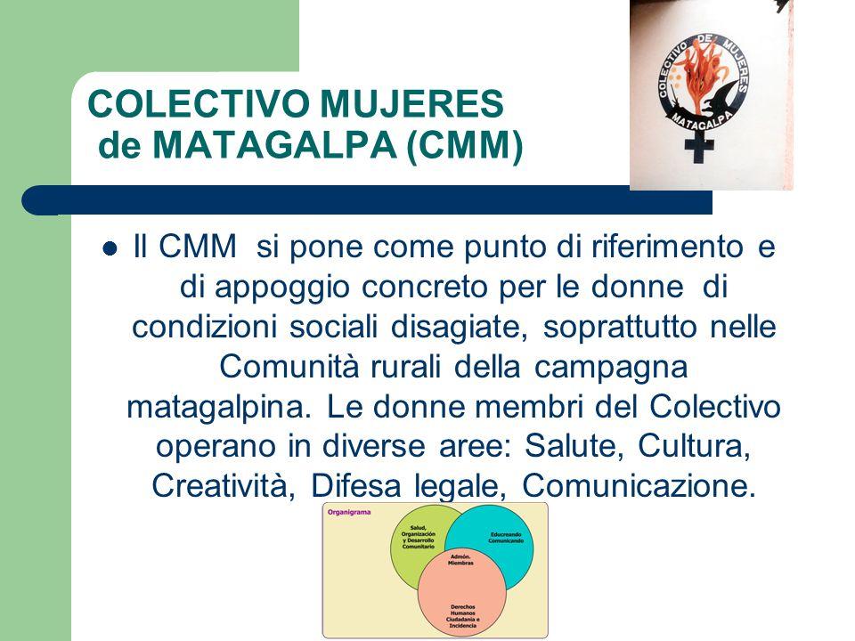 COLECTIVO MUJERES de MATAGALPA (CMM) Il CMM si pone come punto di riferimento e di appoggio concreto per le donne di condizioni sociali disagiate, sop