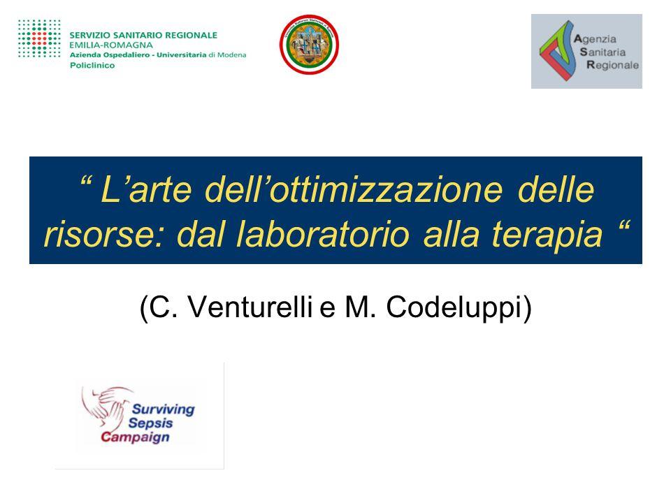 Larte dellottimizzazione delle risorse: dal laboratorio alla terapia (C. Venturelli e M. Codeluppi)