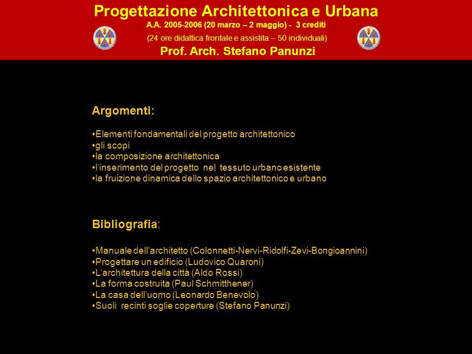 Le nozioni fondamentali del progetto architettonico 1.