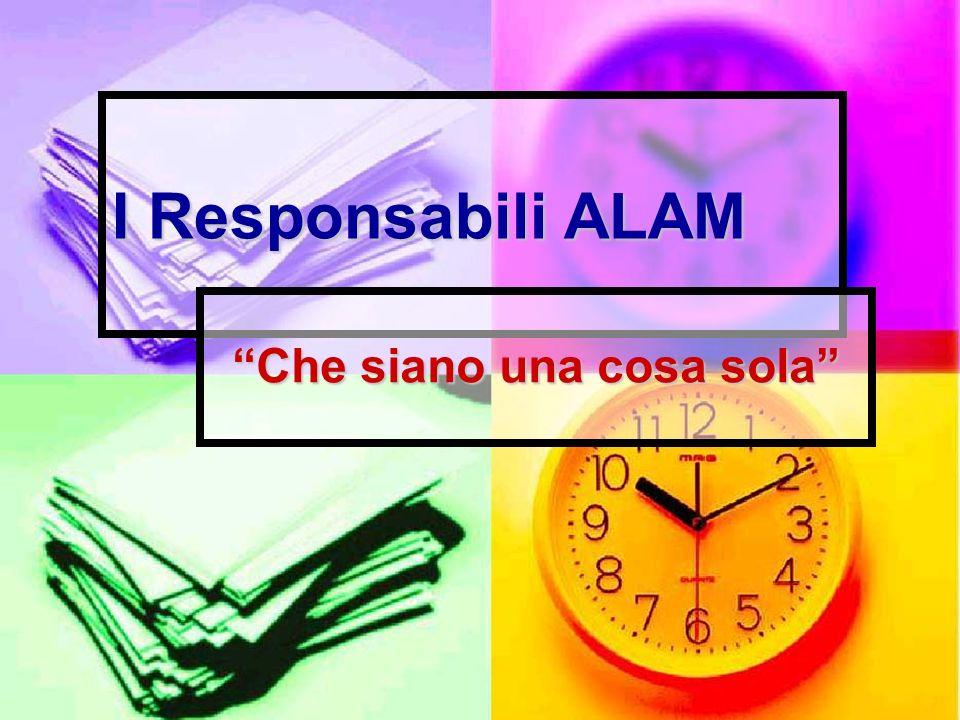 DIVIETO DI SORPASSO Il Responsabile Alam non é in gara con gli altri Il Responsabile Alam non é in gara con gli altri non si sente più bravo e… non si sente più bravo e… … non cerca di fare tutto lui.