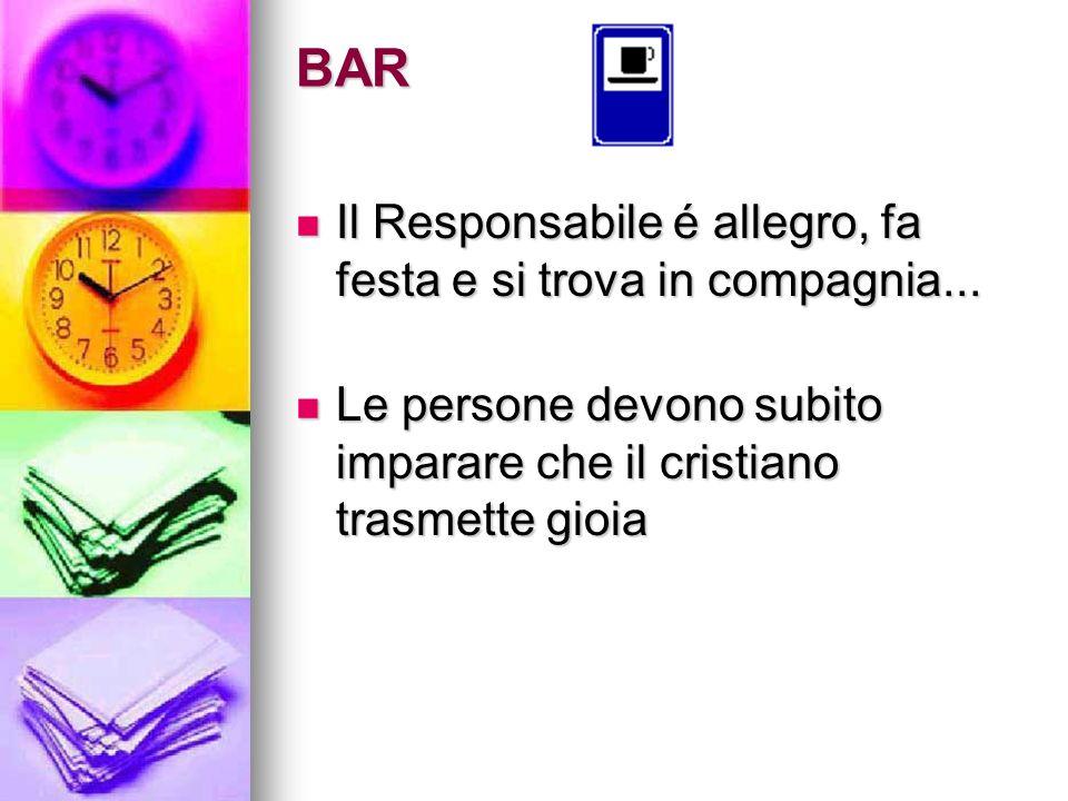 BAR Il Responsabile é allegro, fa festa e si trova in compagnia...