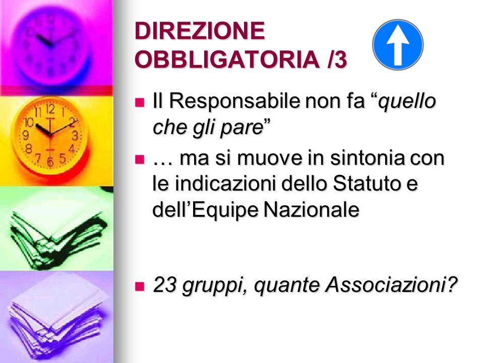 DIREZIONE OBBLIGATORIA /4 Il Responsabile deve parlare, agire, operare, …, facendo tutto con lo spirito della Madre.