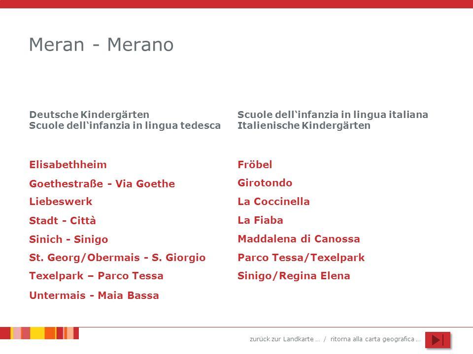 zurück zur Landkarte … / ritorna alla carta geografica … Meran - Merano Elisabethheim Liebeswerk Stadt - Città St.