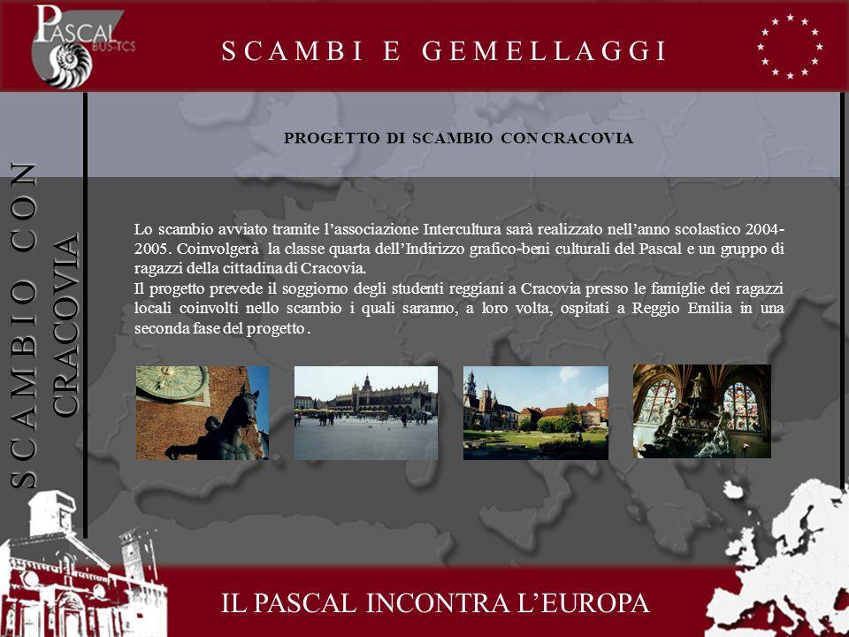PROGETTO DI SCAMBIO CON CRACOVIA Lo scambio avviato tramite lassociazione Intercultura sarà realizzato nellanno scolastico 2004- 2005.