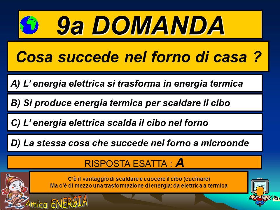 Copyright: Monica Borrego 8a DOMANDA Qual è la fonte più importante di energia sulla Terra ? A) Il Petrolio B) Il Sole C) l Acqua D) l Elettricità RIS