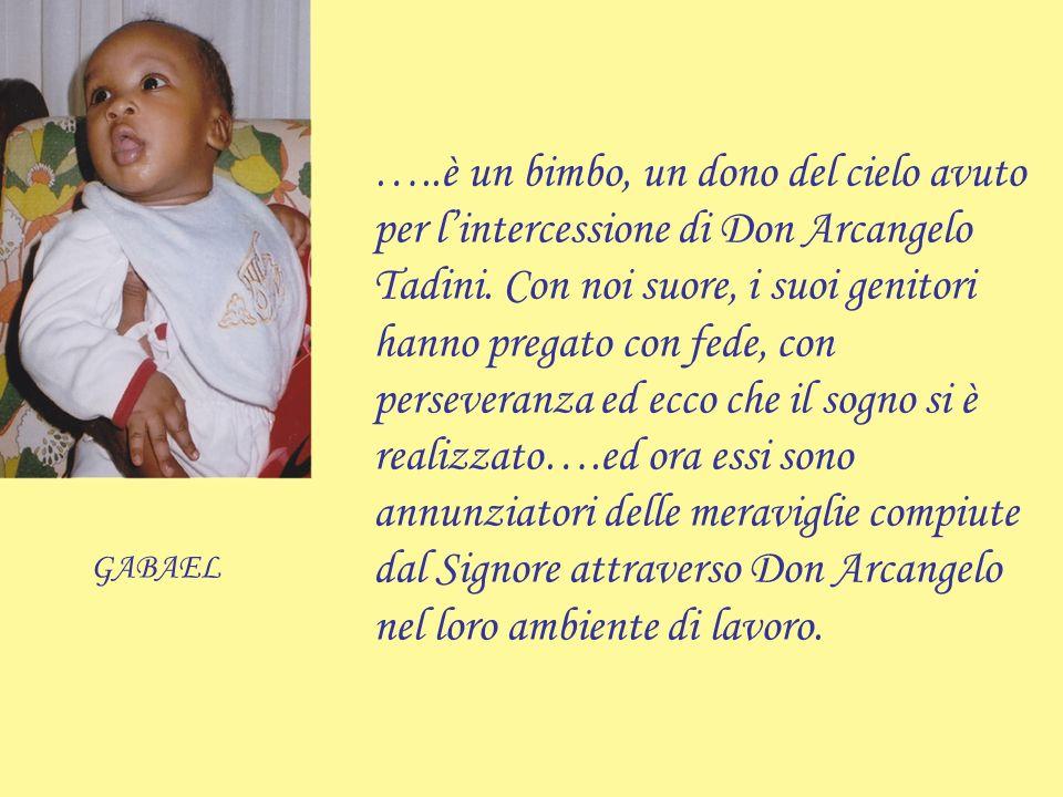 Don Arcangelo Tadini e la famiglia.
