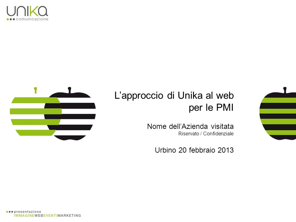 Lapproccio di Unika al web per le PMI Nome dellAzienda visitata Riservato / Confidenziale Urbino 20 febbraio 2013