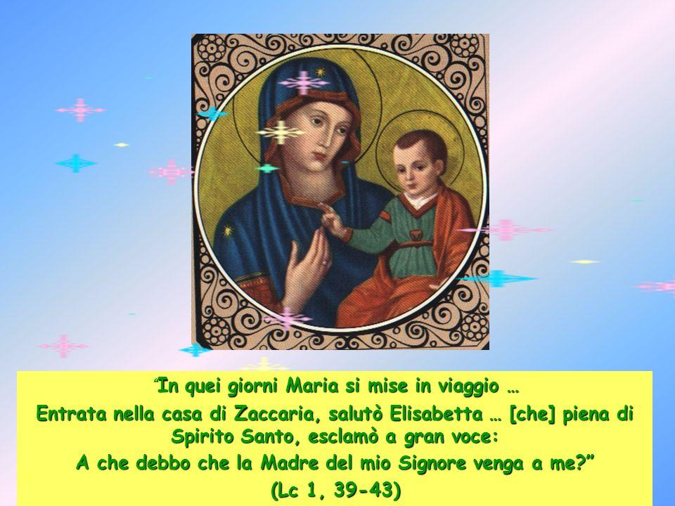 Ave-Maria, piena di grazia, il Signore é con Te, Tu sei benedetta fra tutte le donne e benedetto è il frutto del tuo seno, Gesù.