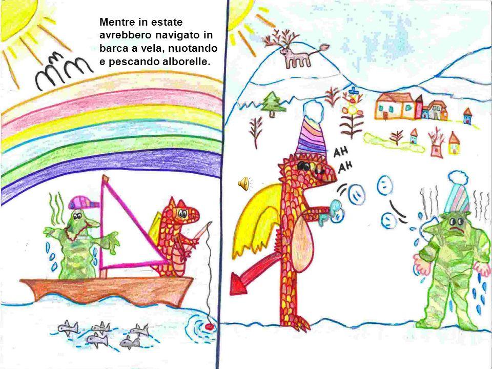 Frago e Fiammone, diventati amici per la pelle, decisero che avrebbero trascorso linverno sul Grignone a sciare e a giocare a palle di neve.