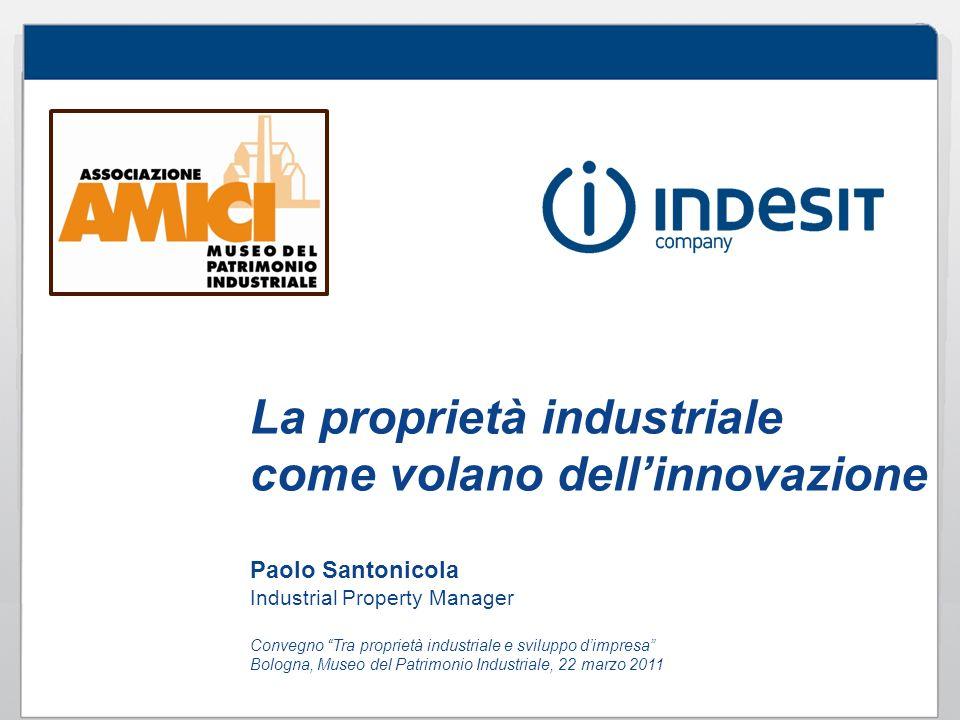 La proprietà industriale come volano dellinnovazione Paolo Santonicola Industrial Property Manager Convegno Tra proprietà industriale e sviluppo dimpr