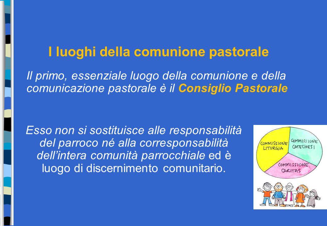 Esso non si sostituisce alle responsabilità del parroco né alla corresponsabilità dellintera comunità parrocchiale ed è luogo di discernimento comunit