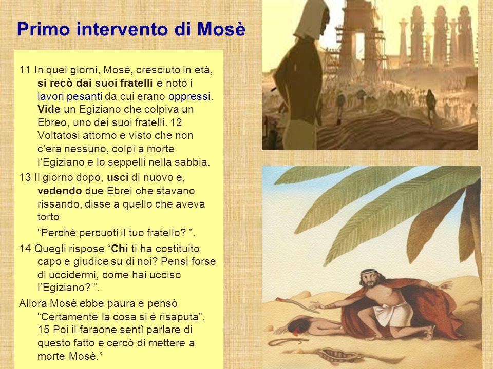 Fuga a Madian Allora Mosè si allontanò dal faraone e si stabilì nel paese di Madian e sedette presso il pozzo.