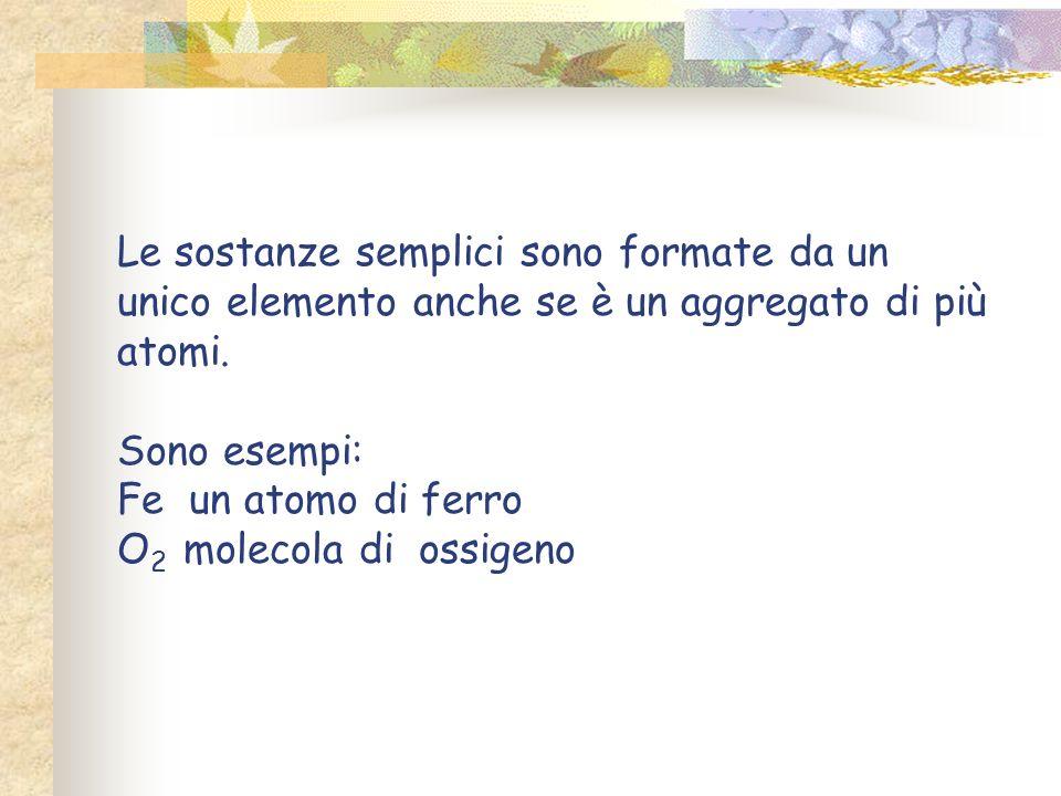 La materia allo stato puro è definita sostanza Può essere semplice o compostasemplicecomposta È esprimibile con una formula chimica Il concetto di pur