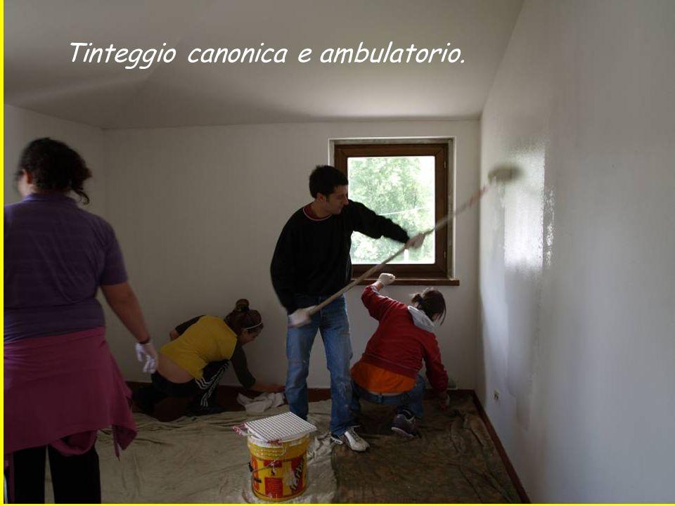 Tinteggio canonica e ambulatorio.