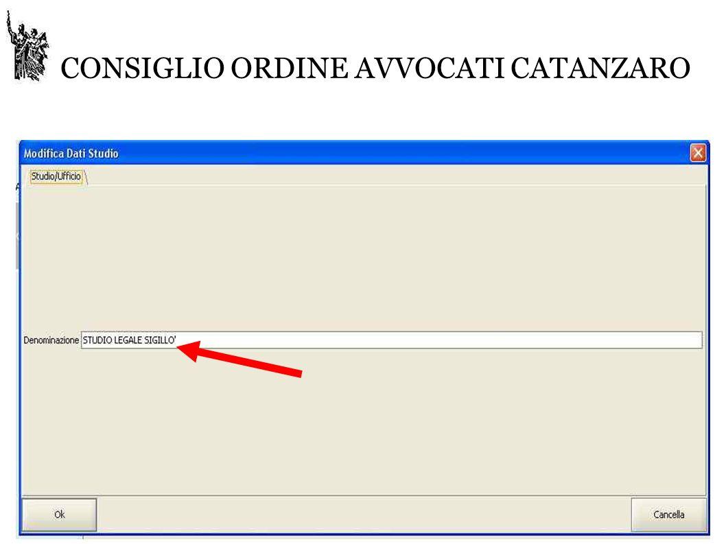 CONSIGLIO ORDINE AVVOCATI CATANZARO 1.