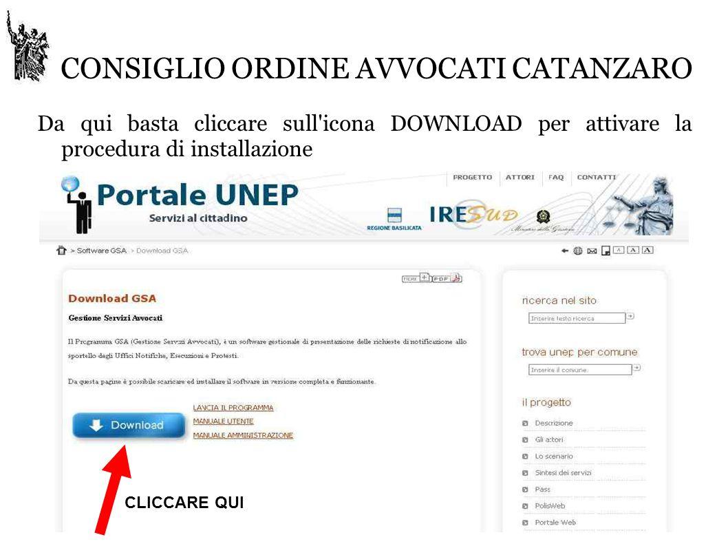 CONSIGLIO ORDINE AVVOCATI CATANZARO SELEZIONARE IL COMUNE DI RESIDENZA DEL DESTINATARIO