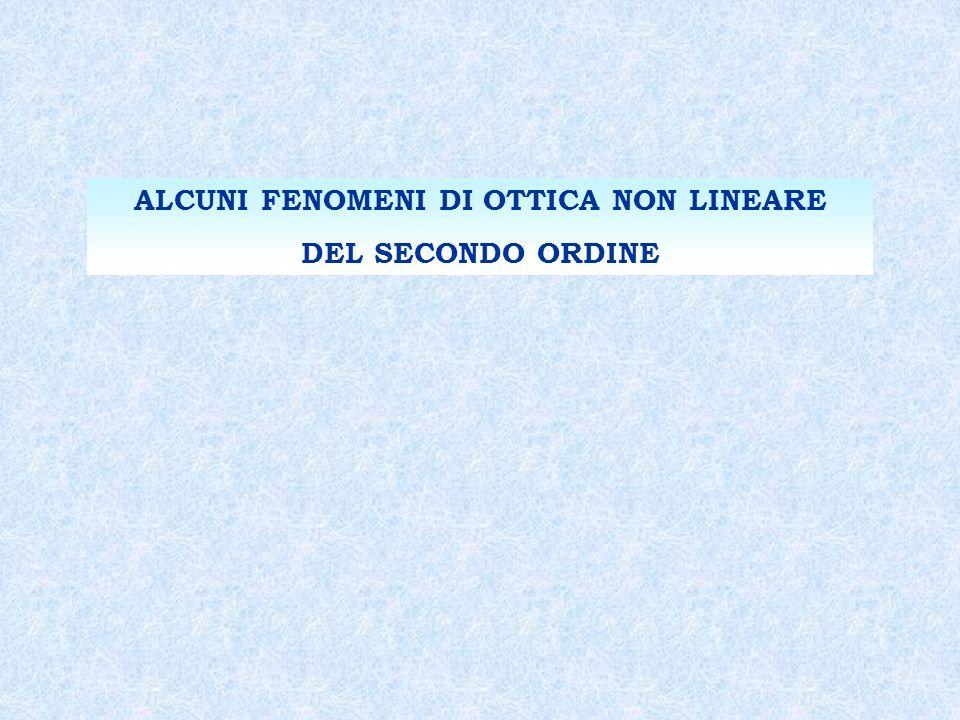 ALCUNI FENOMENI DI OTTICA NON LINEARE DEL SECONDO ORDINE