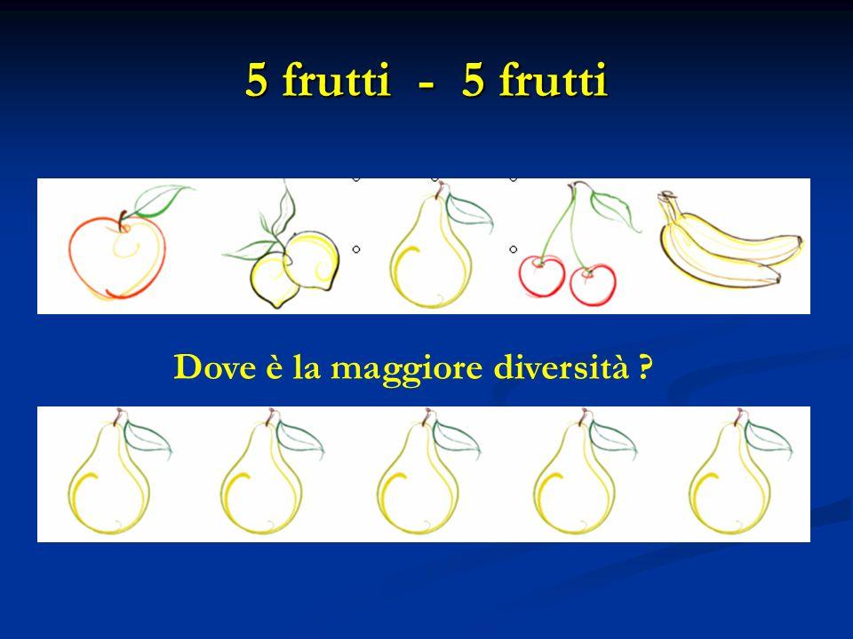 5 frutti - 5 frutti Dove è la maggiore diversità