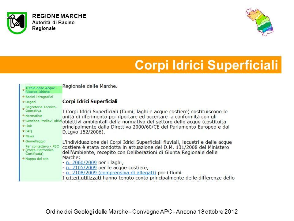 Ordine dei Geologi delle Marche - Convegno APC - Ancona 18 ottobre 2012 Grazie per lattenzione Roberto Copparoni REGIONE MARCHE - SERVIZIO INFRASTRUTTURE, TRASPORTI ED ENERGIA P.F.