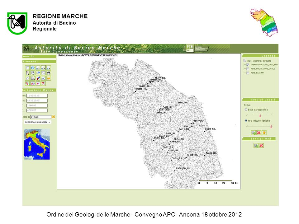 Ordine dei Geologi delle Marche - Convegno APC - Ancona 18 ottobre 2012 A REGIONE MARCHE Autorità di Bacino Regionale