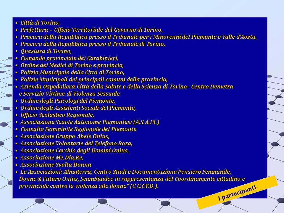 Città di Torino,Città di Torino, Prefettura – Ufficio Territoriale del Governo di Torino,Prefettura – Ufficio Territoriale del Governo di Torino, Proc