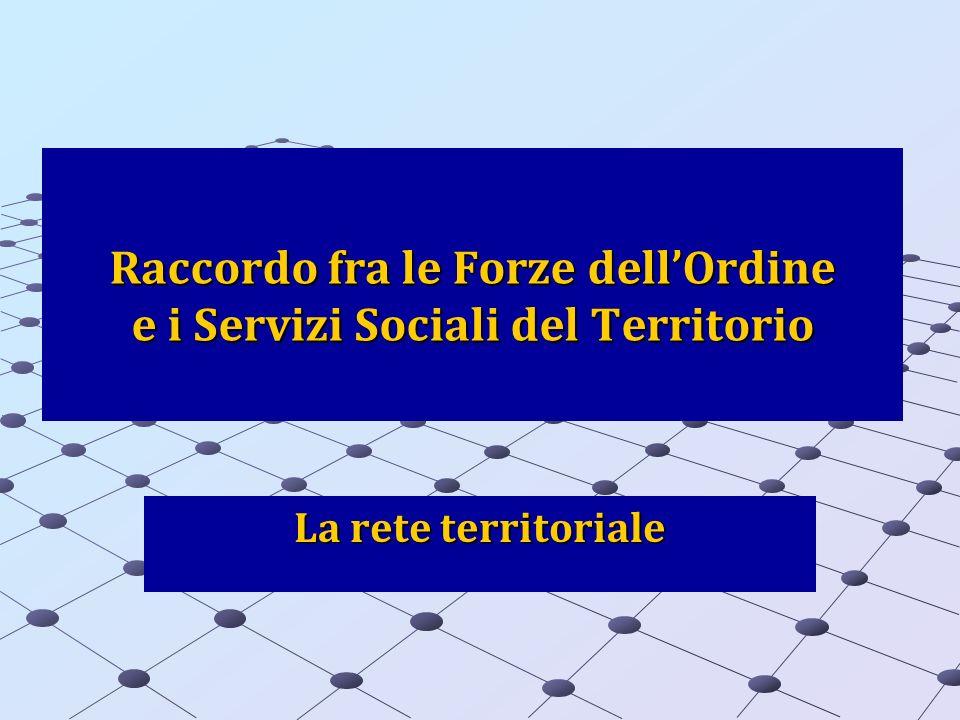 Raccordo fra le Forze dellOrdine e i Servizi Sociali del Territorio La rete territoriale