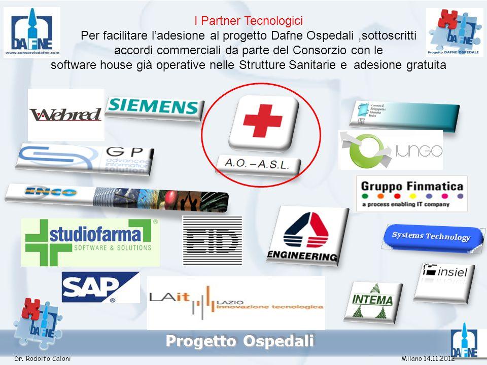 Progetto Ospedali I Partner Tecnologici Per facilitare ladesione al progetto Dafne Ospedali,sottoscritti accordi commerciali da parte del Consorzio co