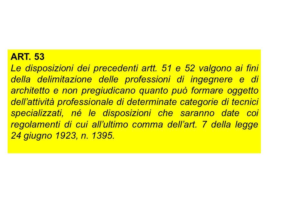 ART. 53 Le disposizioni dei precedenti artt.
