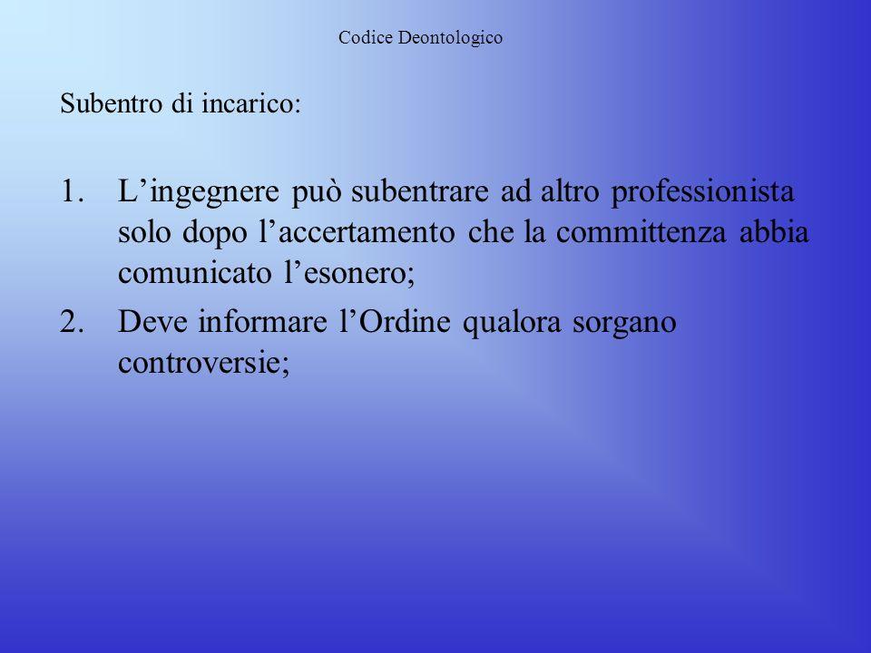 Codice Deontologico Rapporti con i Colleghi: 1.Lealtà e correttezza verso i colleghi al fine di affermare anche la comune cultura ed identità 2.Stessi