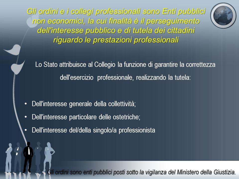 Lo Stato attribuisce al Collegio la funzione di garantire la correttezza dell'esercizio professionale, realizzando la tutela: Dell'interesse generale
